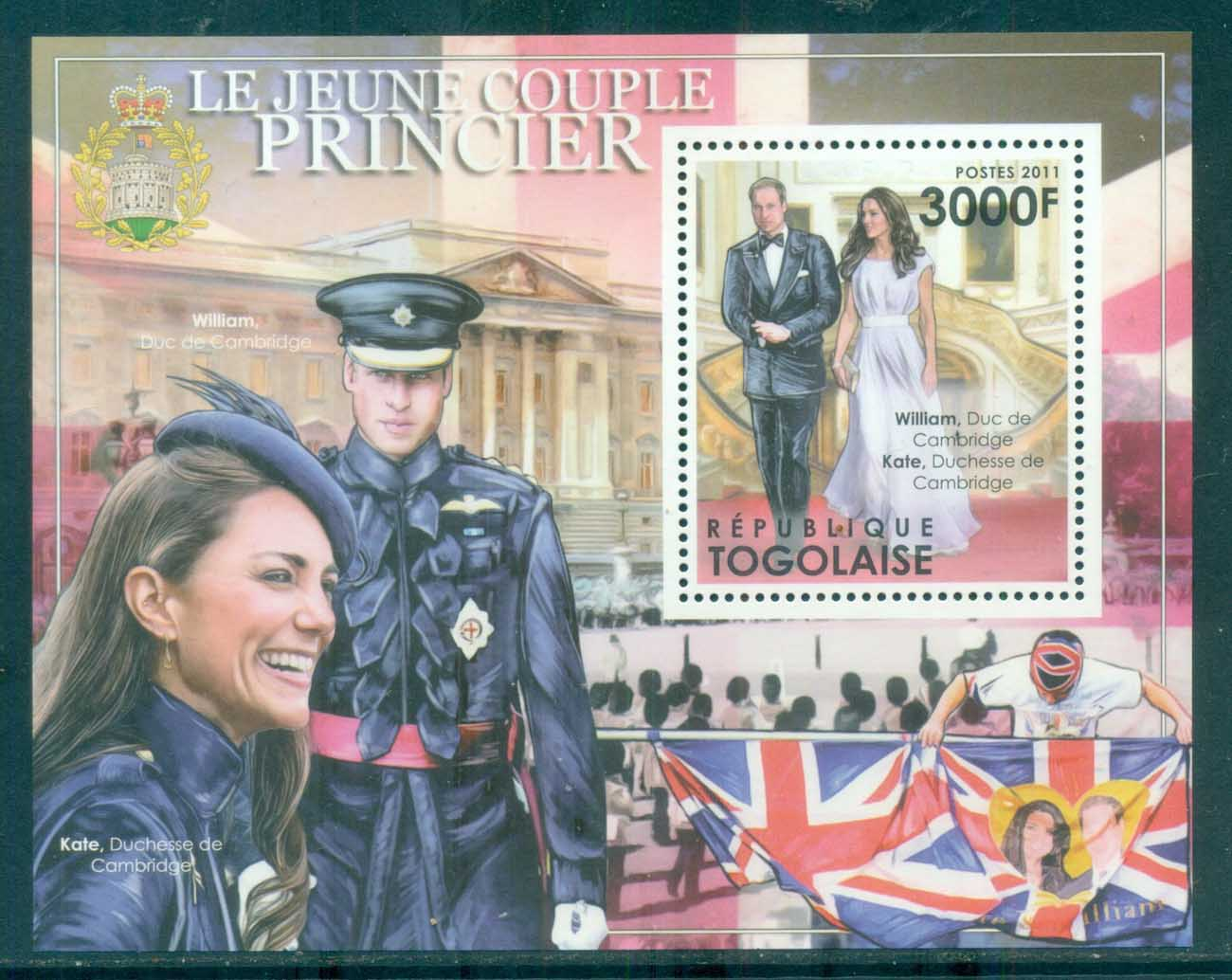 Togo 2011 Famous People, Royalty, William & Kate MS MUH TG11501b