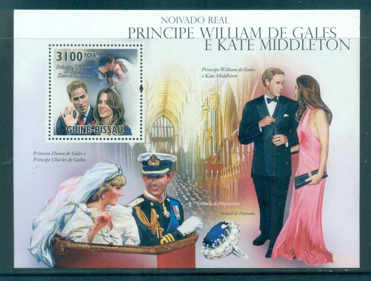 Guinea Bissau 2011 Famous People, Royalty, William & Kate, Diana MS MUH GB11101b