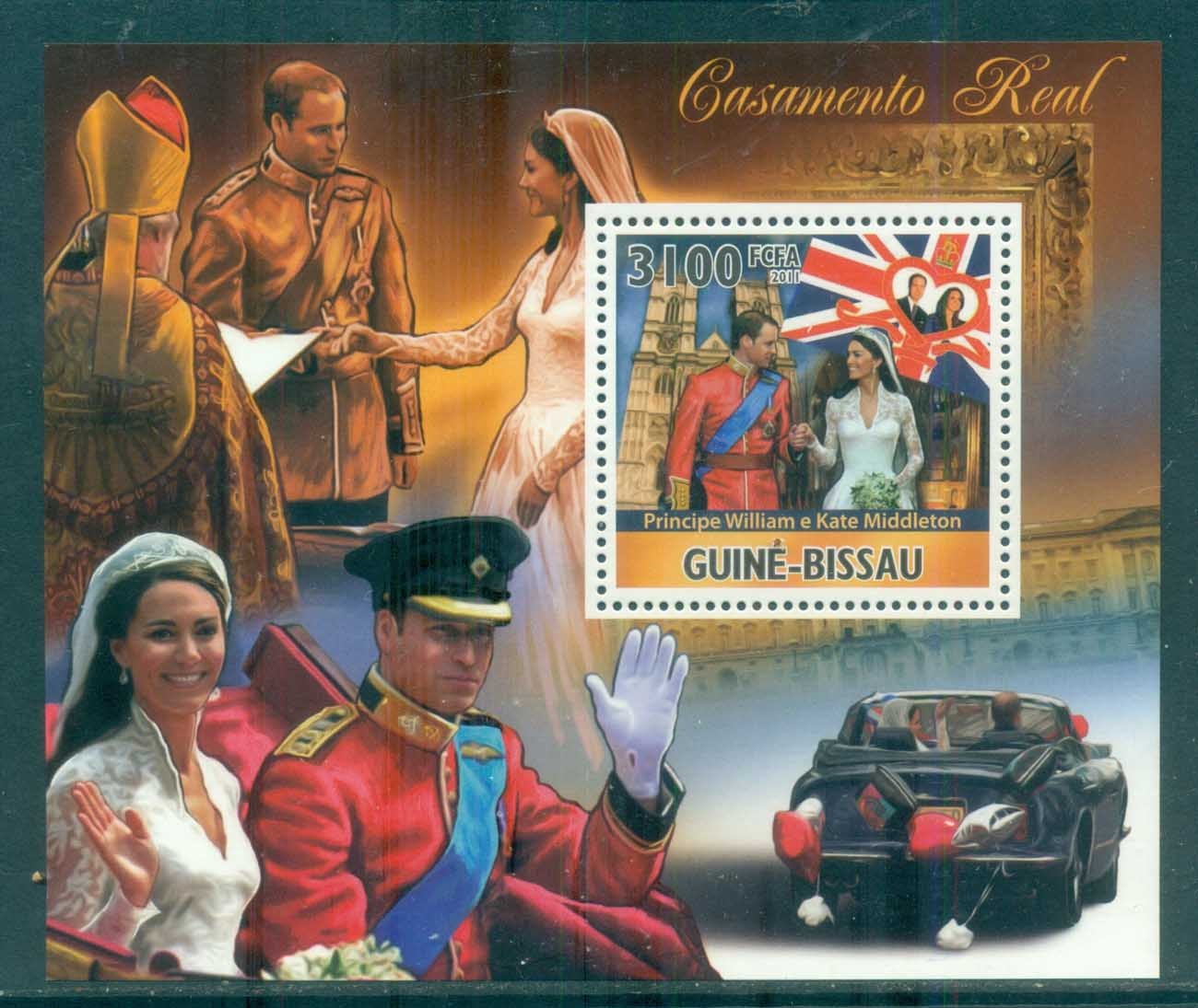 Guinea Bissau 2011 Famous People, Royalty, William & Kate MS MUH GB11304b