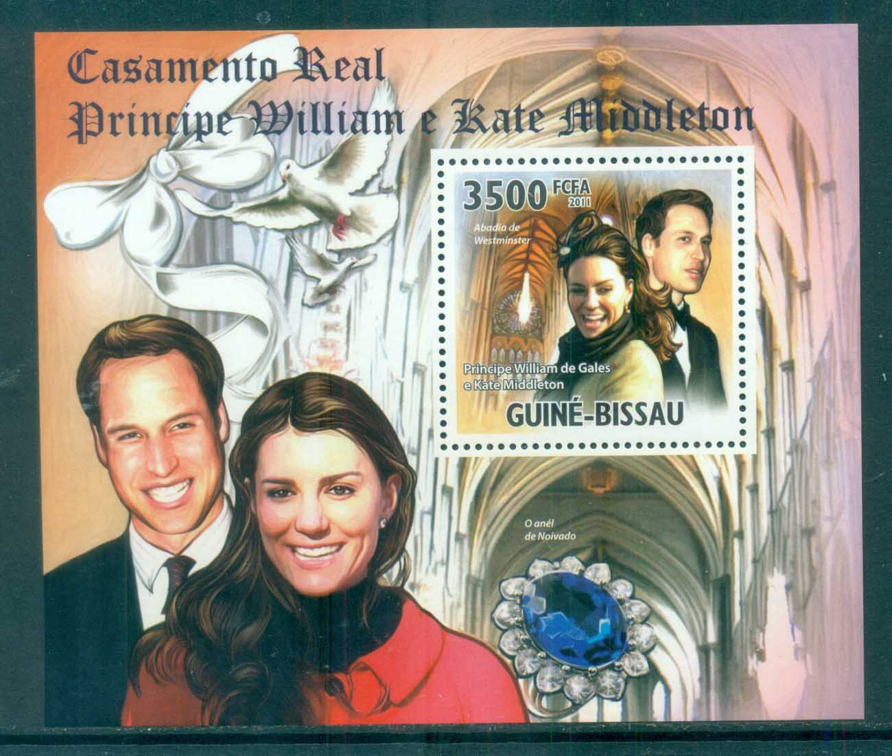 Guinea Bissau 2011 Famous People, Royalty, William & Kate MS MUH GB11304c