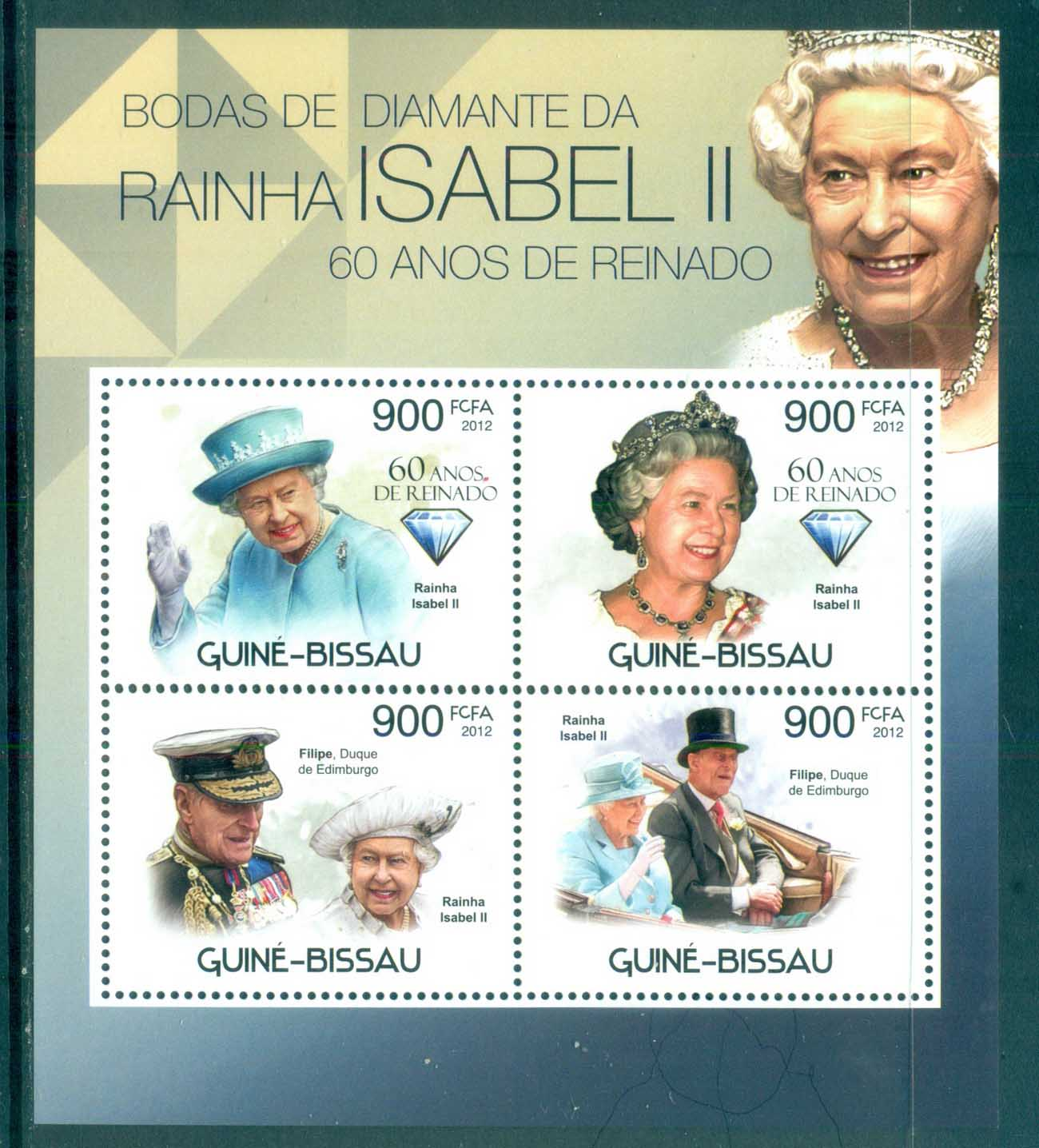 Guinea Bissau 2012 Famous People, Royalty, QEII, MS MUH GB12309a