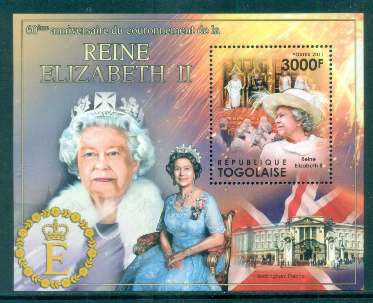 Togo 2011 Famous People, Royalty, QEII, MS MUH TG11507b