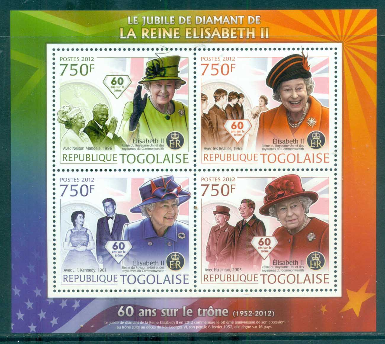 Togo 2011 Famous People, Royalty, QEII, MS MUH TG12102a