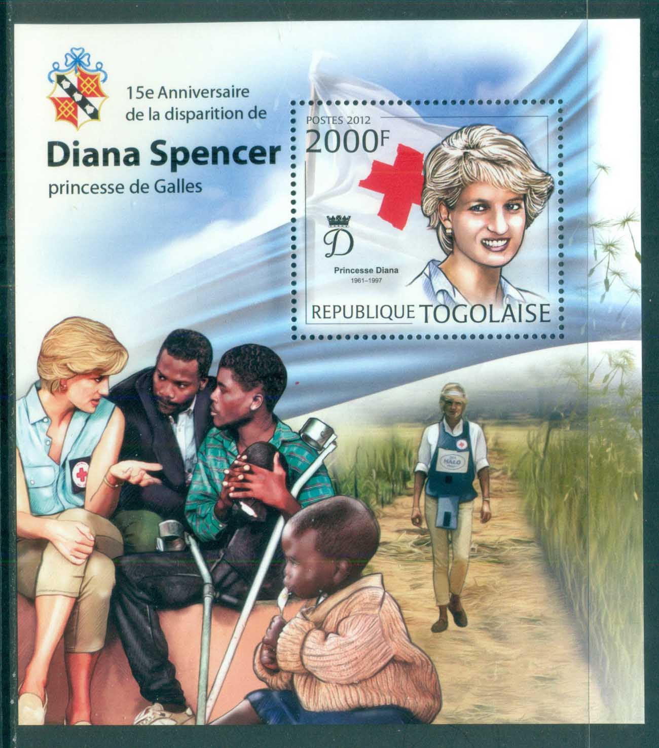 Togo 2011 Famous People, Royalty, Diana, Red Cross MS MUH TG12201b