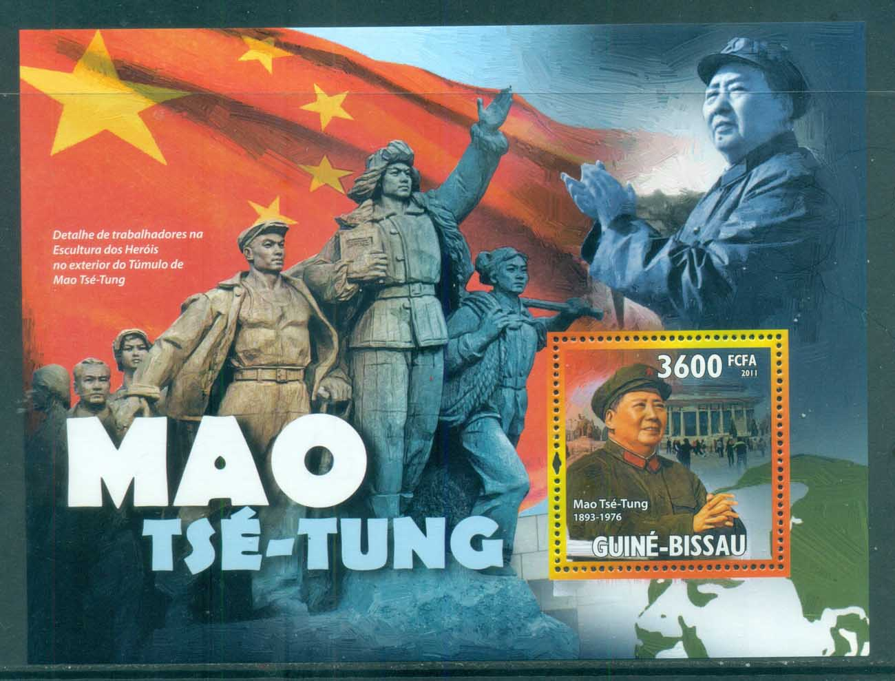 Guinea Bissau 2011 Famous People, Asia, Mao Tse Tung MS MUH GB11201b
