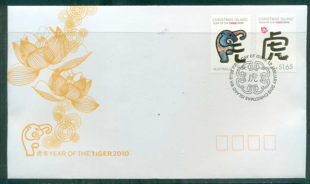 Christmas Is 2010 New Year of the Tiger FDC lot76031