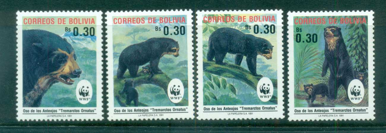 Bolivia 1991 WWF Spectacled Bear MUH lot76135