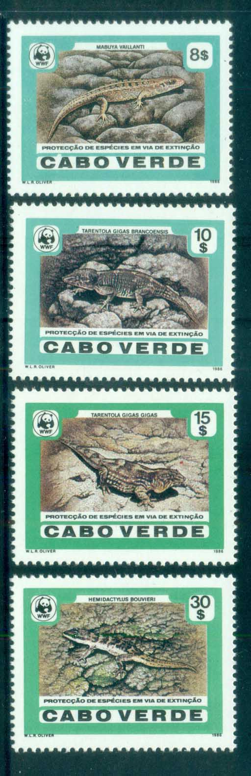 Cape Verde 1986 WWF Desert Island Lizards MUH lot76143