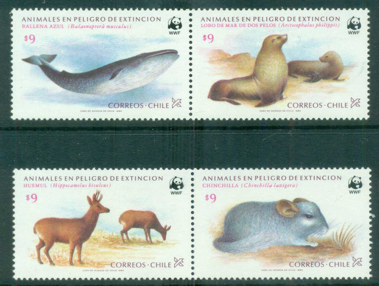 Chile 1984 1990 WWF Endangered Species MUH lot76148