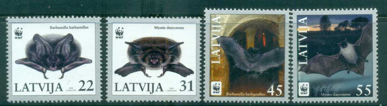Latvia 2008 WWF Pond Bat, Western Barbastelle MUH lot76158