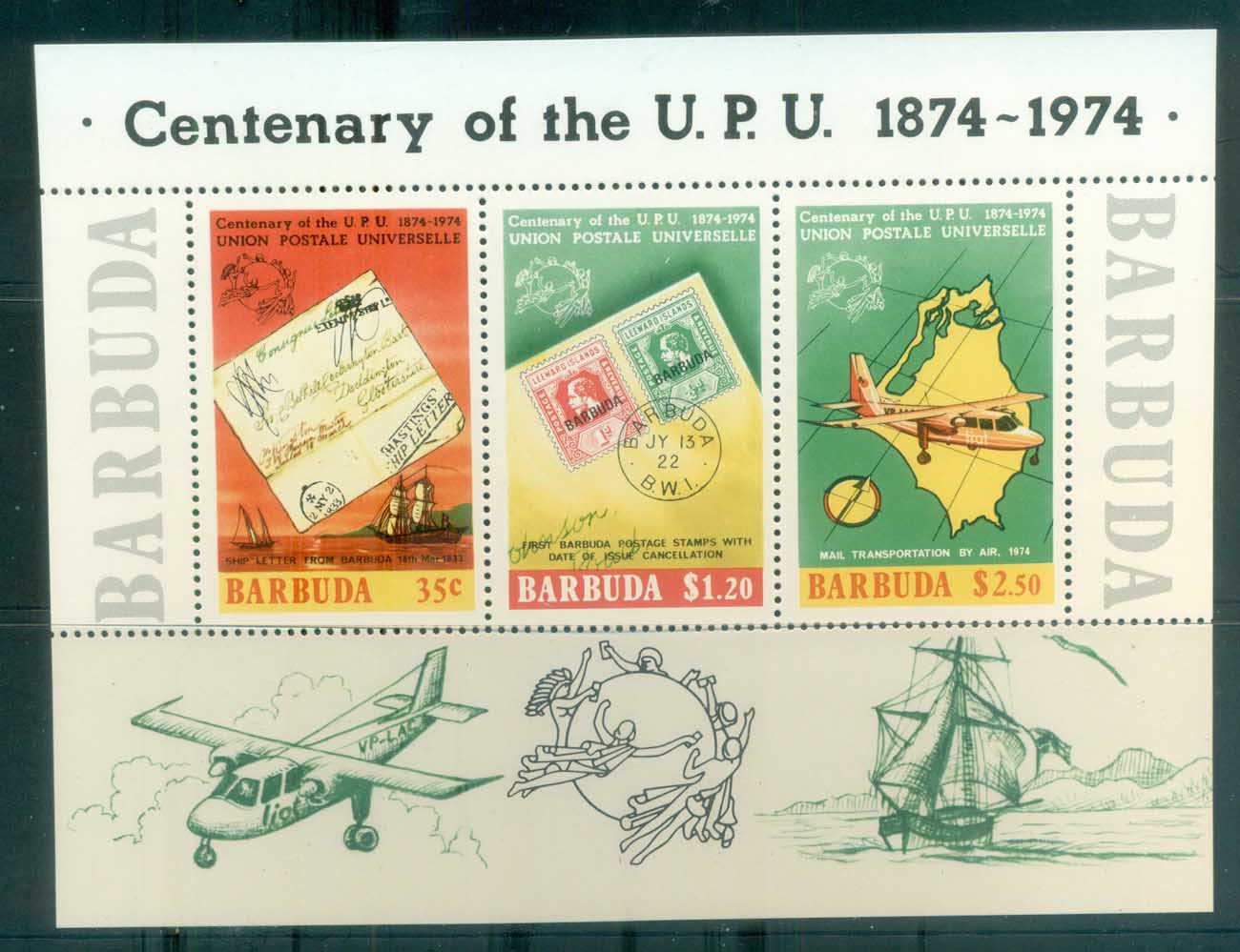 Barbuda 1974 Centenary of UPU MS MUH lot76373