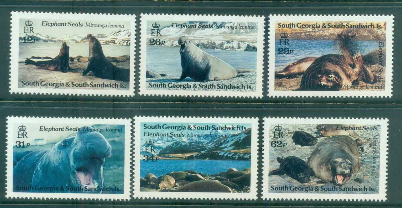 South Georgia 1991 Elephant Seals MUH lot76445