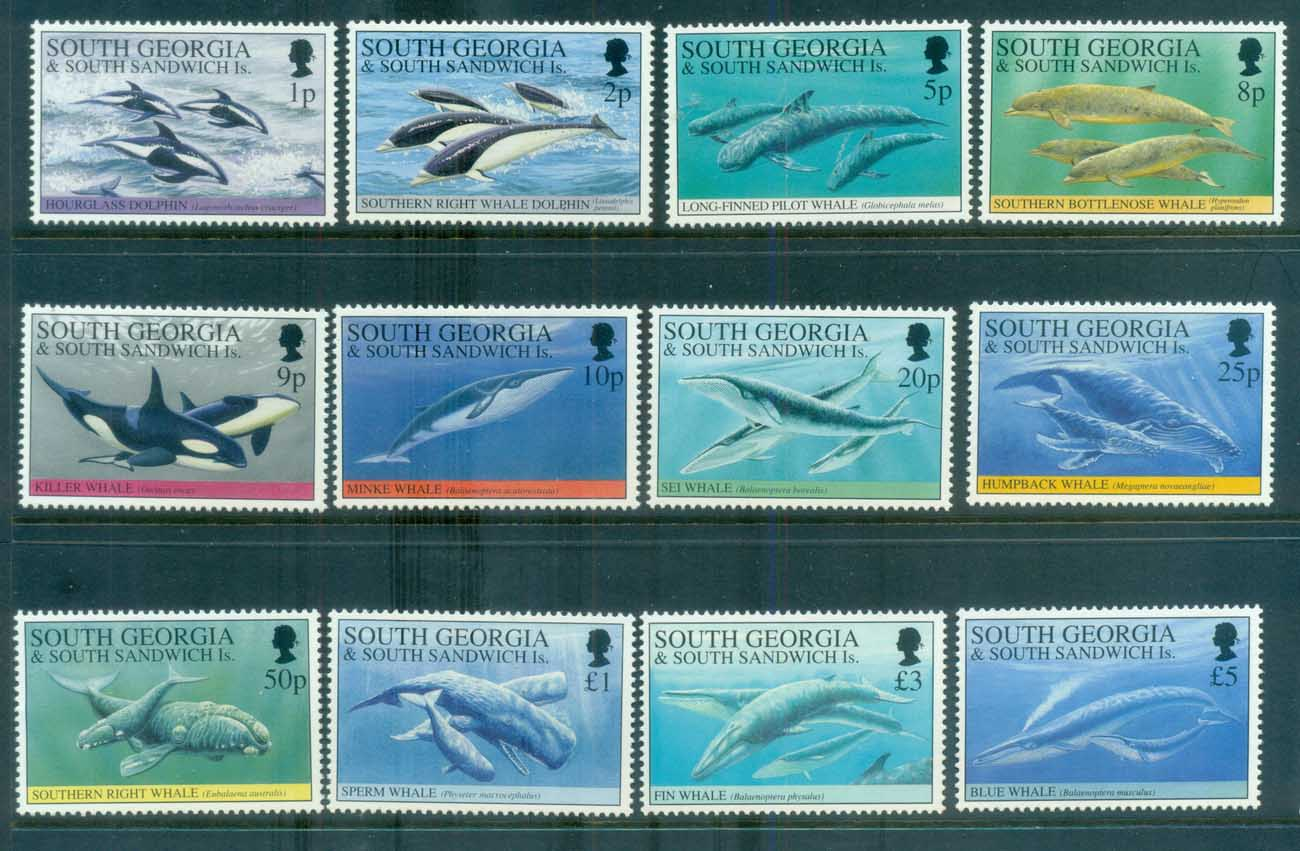 South Georgia 1994 Whales & Dolphins MUH lot76451