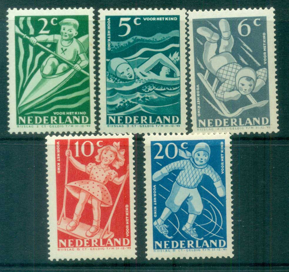 Netherlands 1948 Charity, Child Welfare MLH lot76488