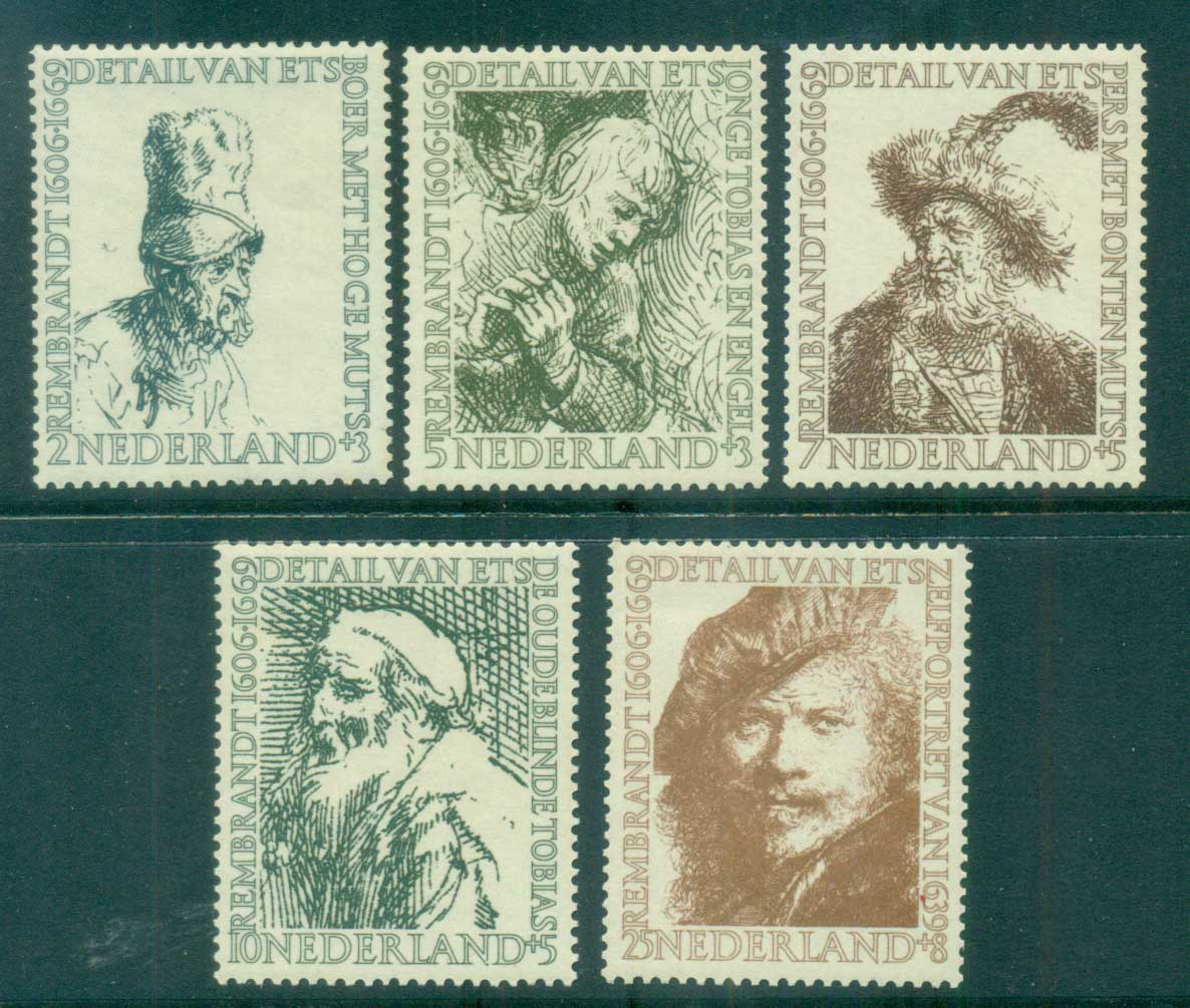 Netherlands 1956 Charity, Social & Cultural purposes, Rembrandt MLH lot76507