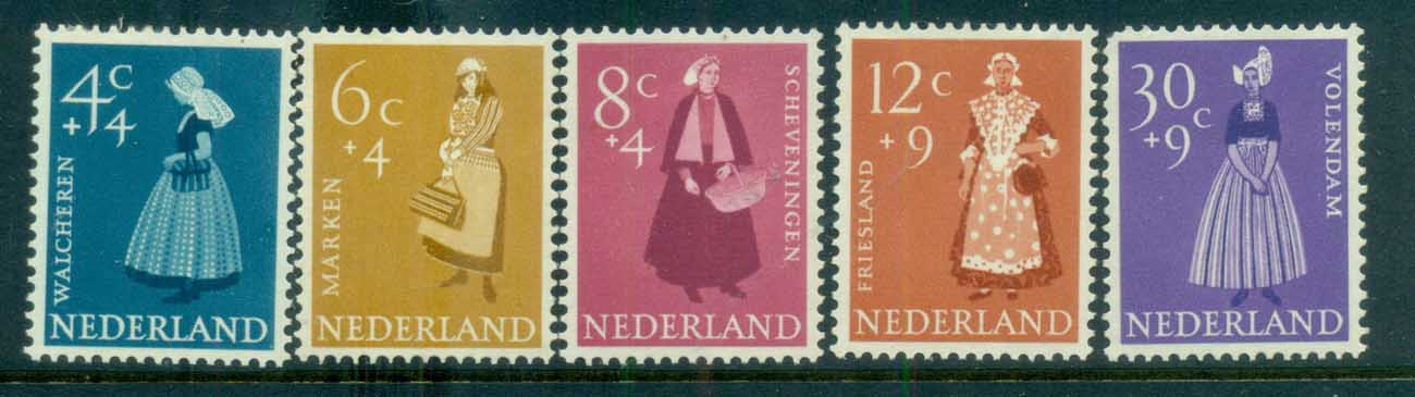 Netherlands 1958 Charity, Social & Cultural purposes, Costumes MLH lot76513