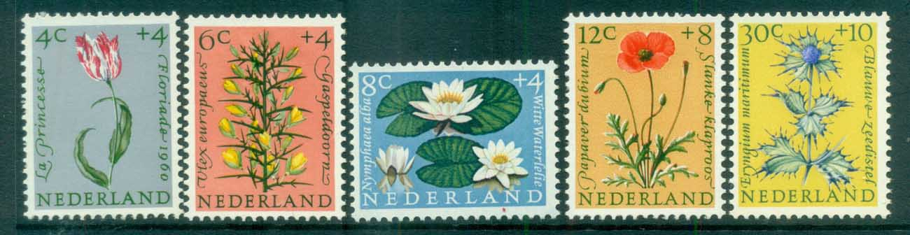 Netherlands 1960 Charity, Child Welfare, Flowers MLH lot76517