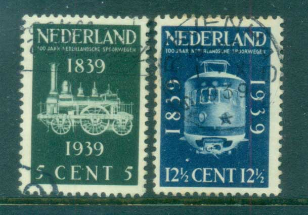 Netherlands 1939 Dutch Railroad Cent FU lot76631