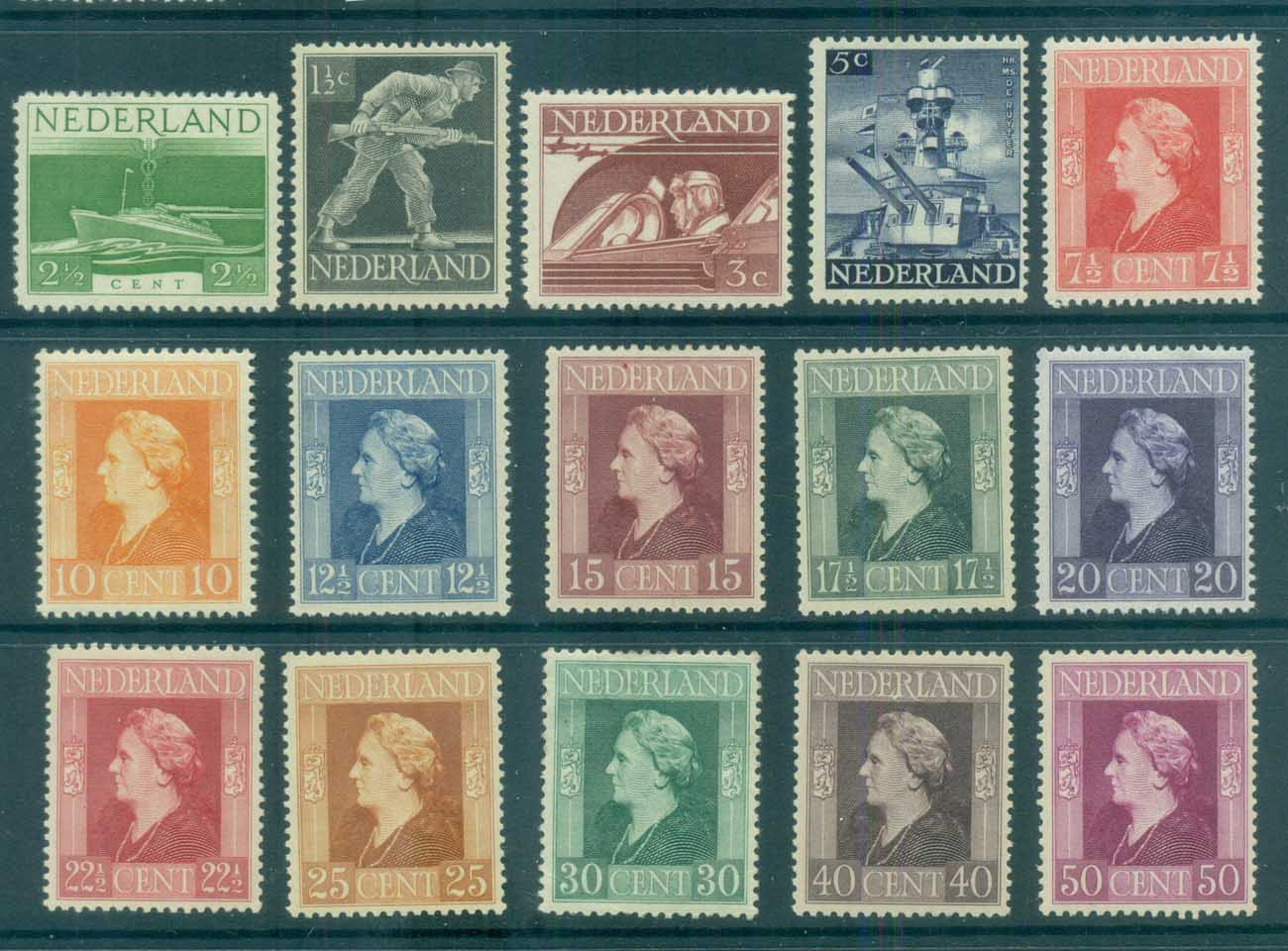 Netherlands 1944-46 Pictorials MLH lot76636