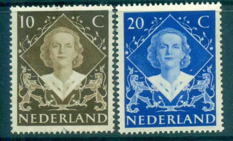 Netherlands 1948 Queen Wilhemina Investiture MLH lot76638