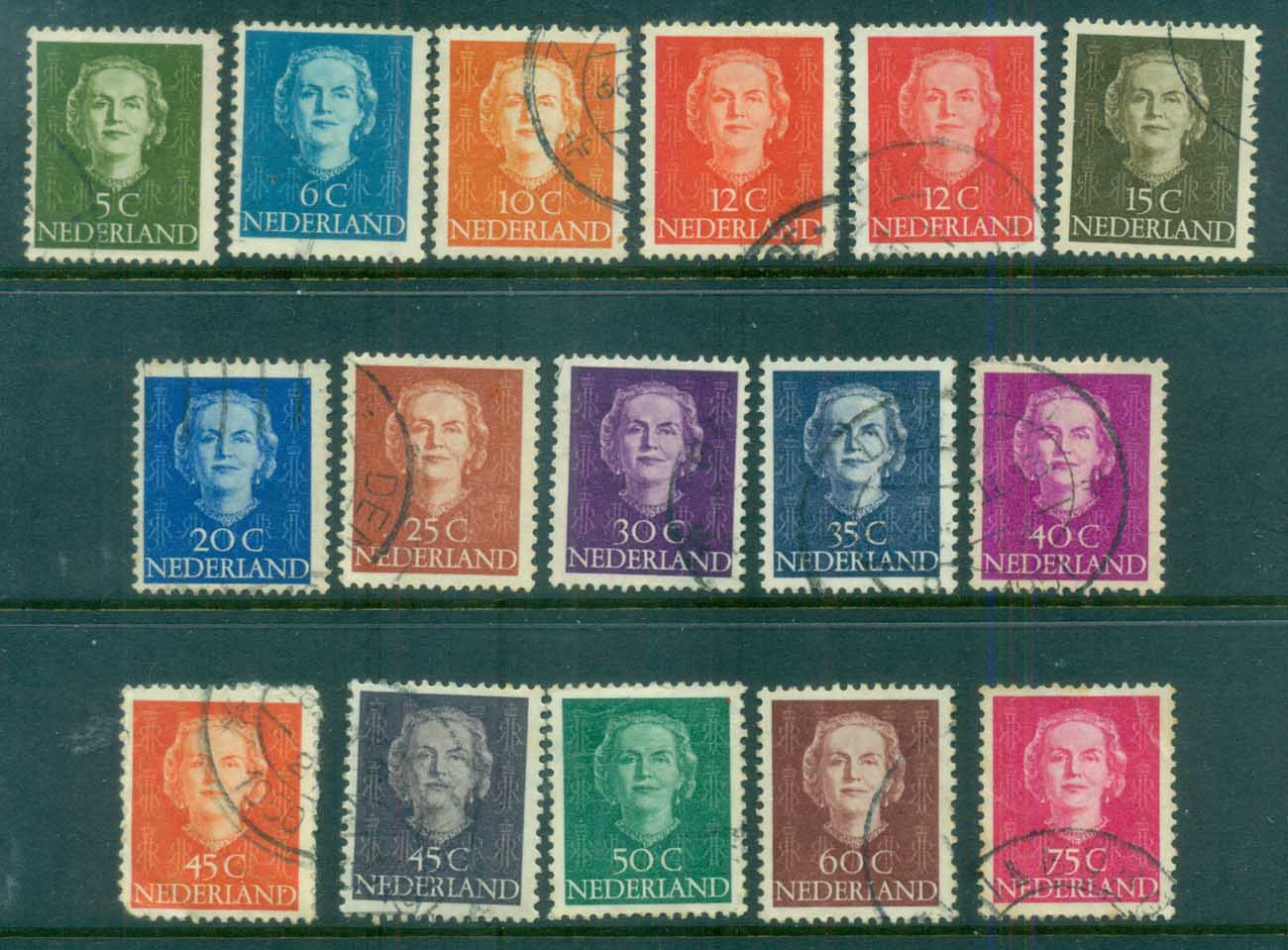 Netherlands 1949 Queen Juliana FU lot76639