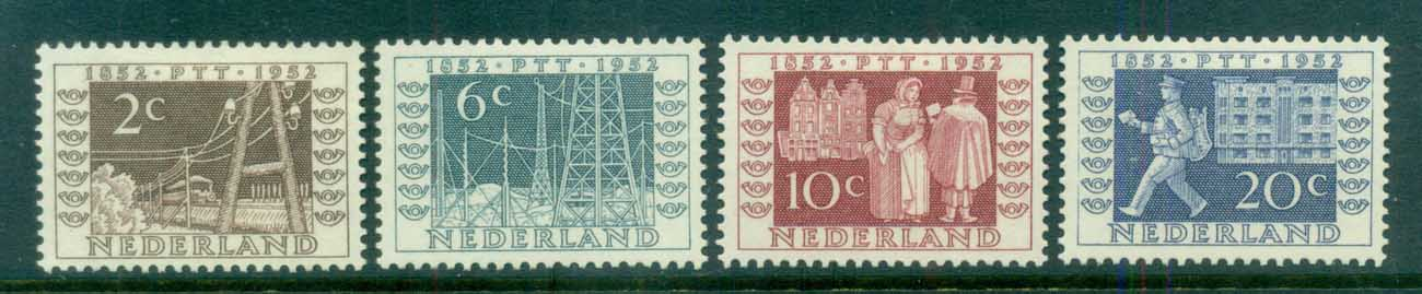 Netherlands 1952 Dutch Postage Stamp Centenery Exhibition MLH lot76644