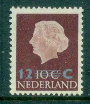 Netherlands 1958 12c on 10c Surch MLH lot76651