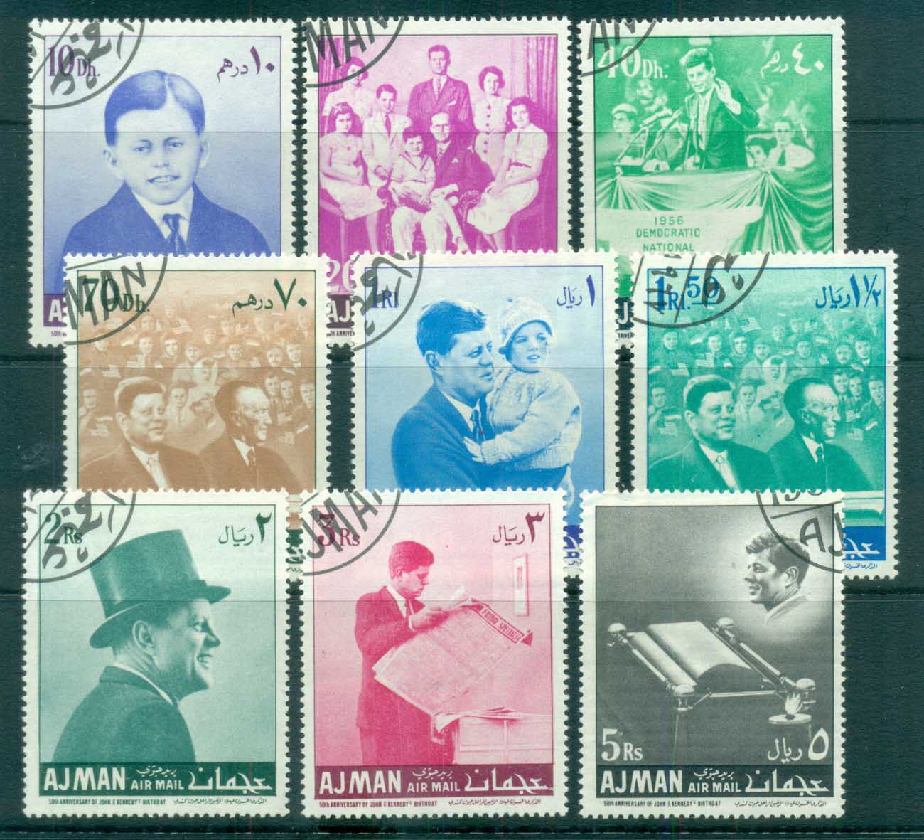 Ajman 1967 JFK Kennedy CTO lot77161