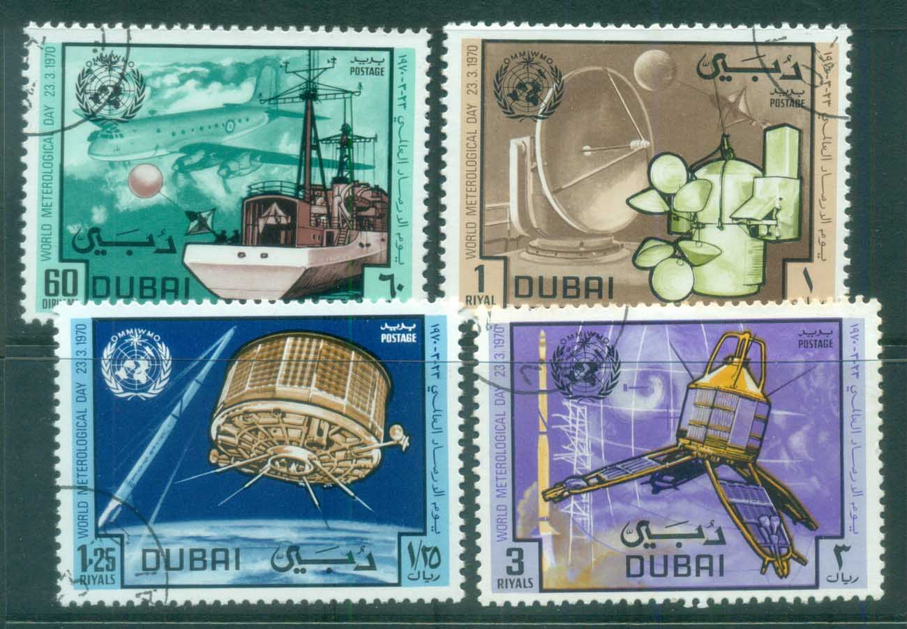Dubai 1970 World Meterological Day CTO lot77218
