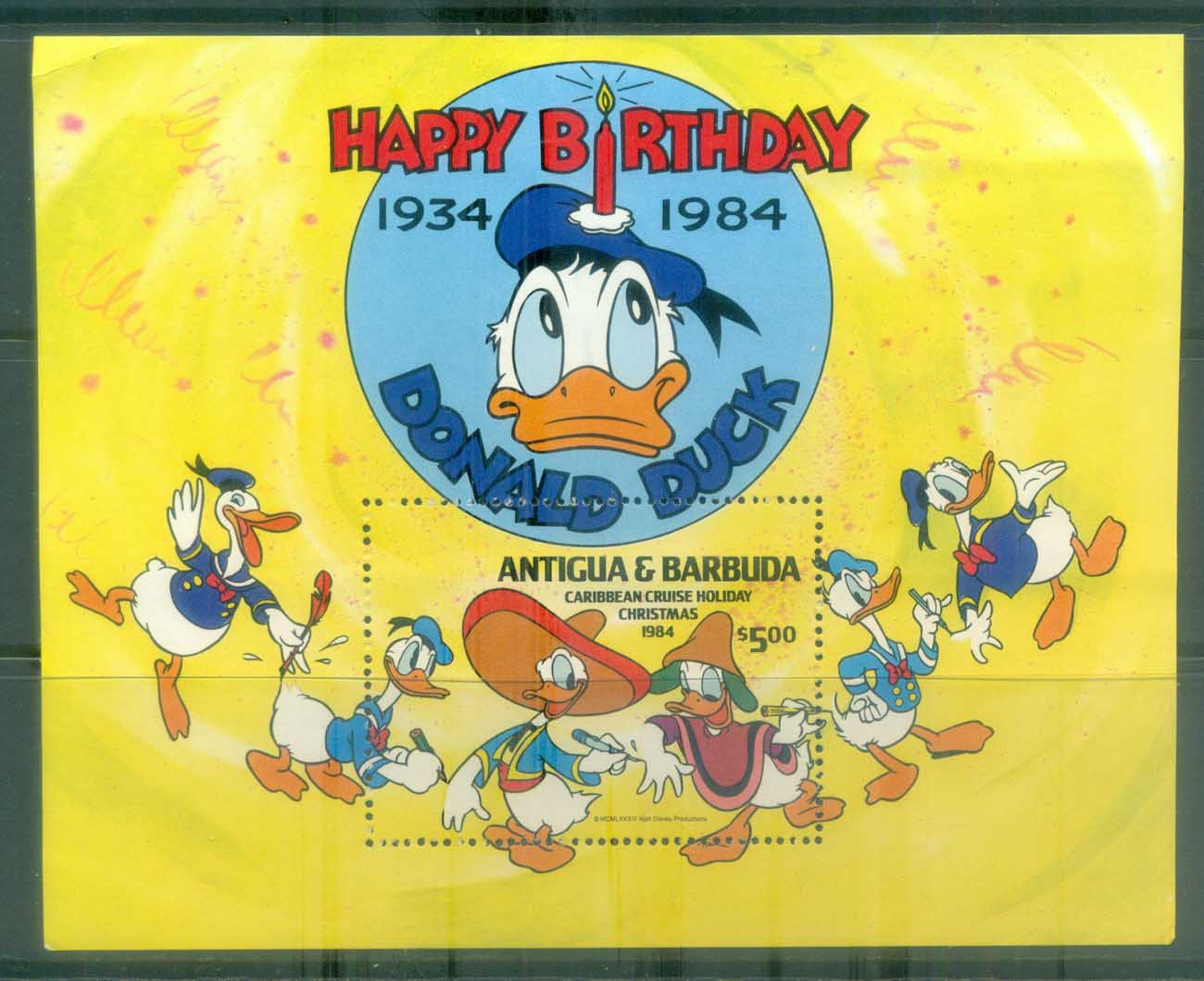 Antigua & Barbuda 1984 Disney, Donald Duck Caribbean Cruise MS MUH lot77467