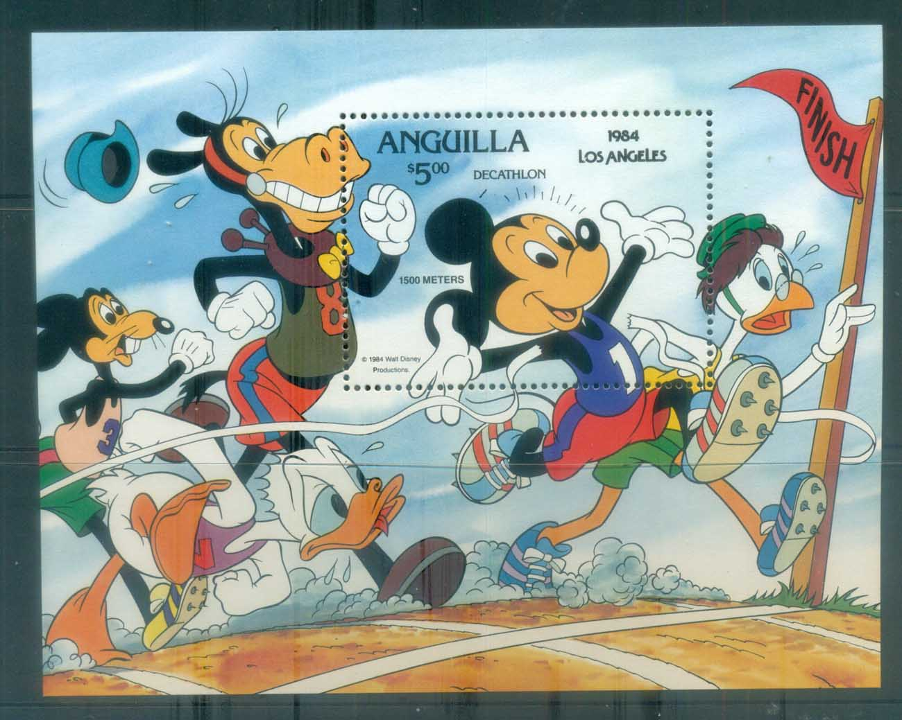 Anguilla 1984 Disney, Mickey Mouse, Decathlon MS MUH lot77470