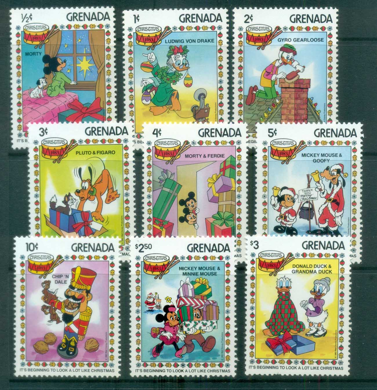 Grenada 1989 Disney, Xmas MUH lot77476