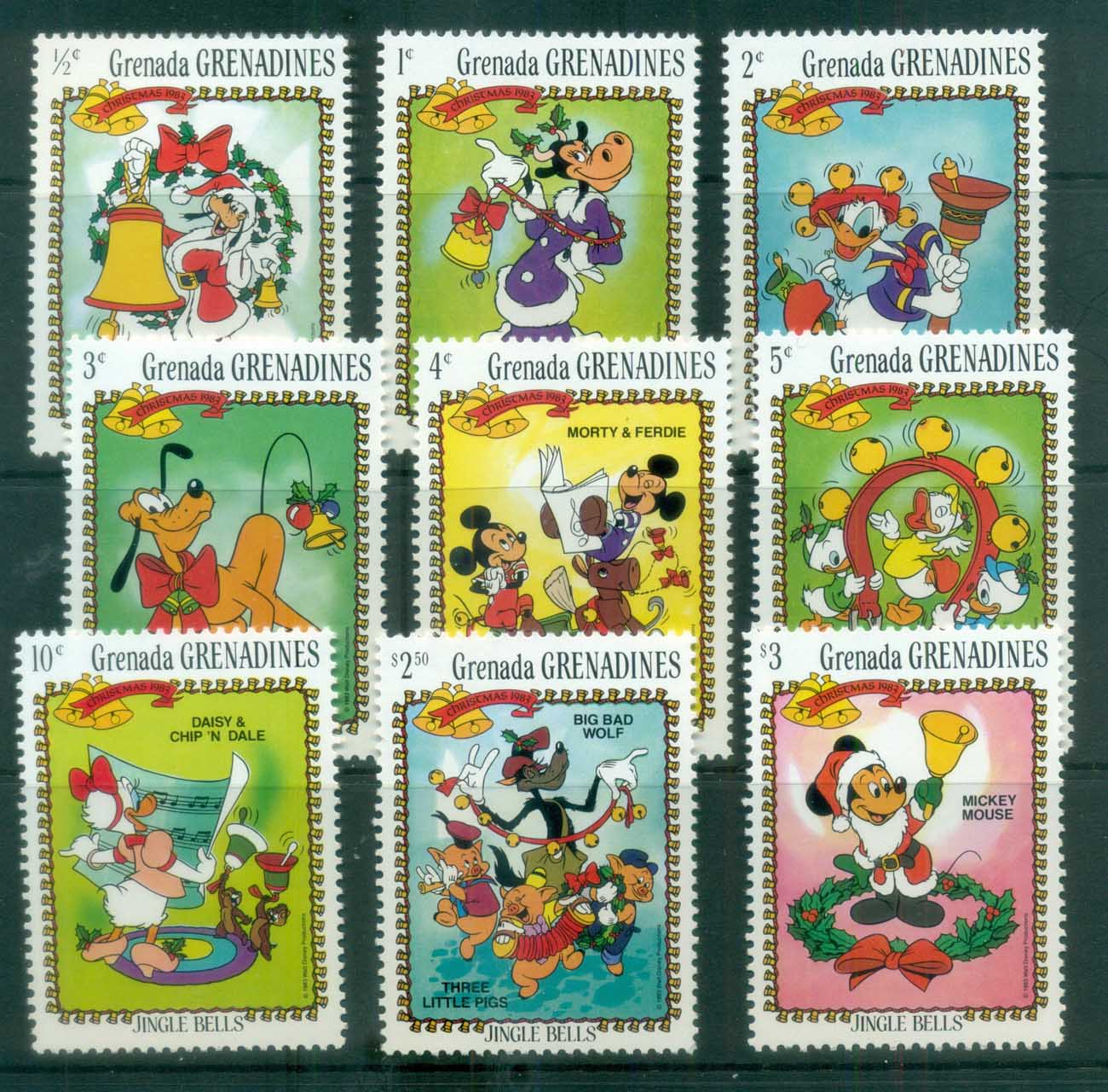 Grenada Grenadines 1983 Disney, Xmas, Jingle Bells MUH lot77484