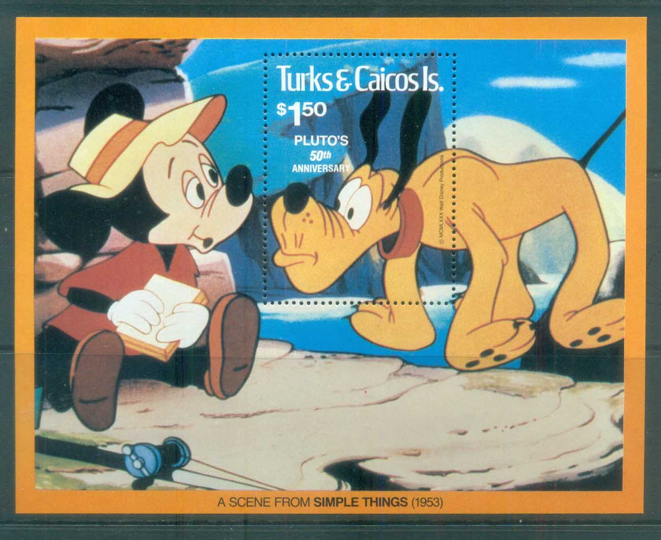 Turks & Caicos Is 1981 Disney, Pluto MS MUH lot77499
