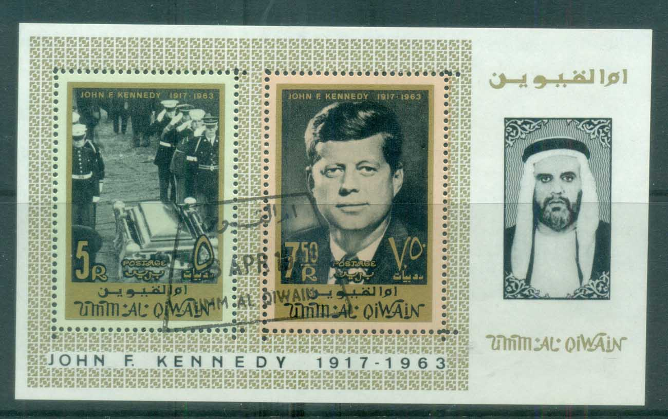 Umm al Qiwain 1965 JFK Kennedy MS CTO lot77564