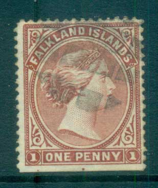 Falkland Is 1894 1d bright claret FU lot77570