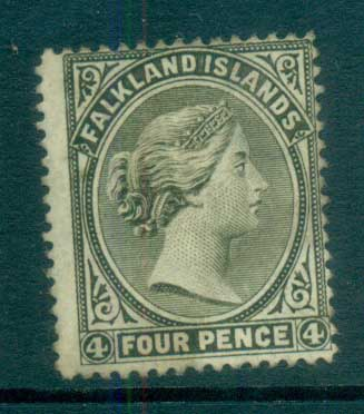 Falkland Is 1895 4d olive grey FU lot77571