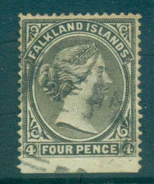 Falkland Is 1895 4d olive grey FU lot77572