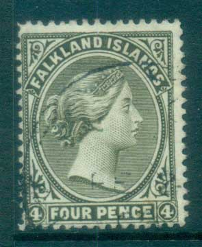 Falkland Is 1895 4d olive grey FU lot77573