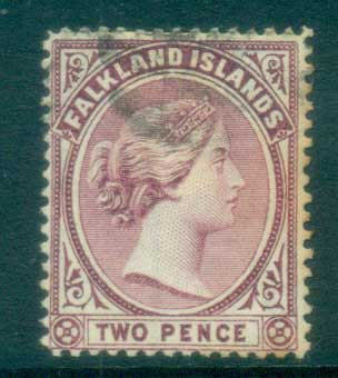 Falkland Is 1891-1902 2d purple FU lot77581