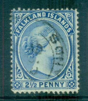 Falkland Is 1891-1902 2.5d Ultramarine FU lot77582