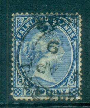 Falkland Is 1891-1902 2.5d Ultramarine FU lot77583