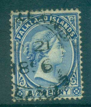 Falkland Is 1891-1902 2.5d Ultramarine FU lot77585