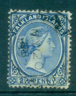 Falkland Is 1891-1902 2.5d Ultramarine FU lot77586