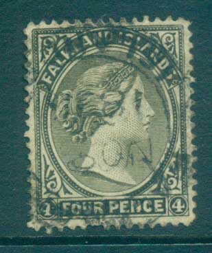Falkland Is 1895 4d olive grey FU lot77589
