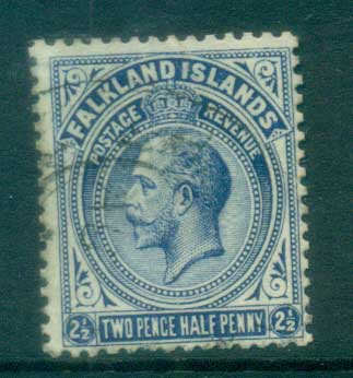 Falkland Is 1912-14 KGV 2.5d deep ultramarine FU lot77621