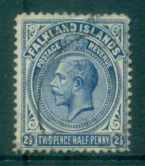 Falkland Is 1912-14 KGV 2.5d deep ultramarine FU lot77622