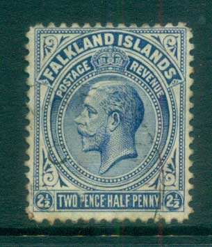 Falkland Is 1912-14 KGV 2.5d deep ultramarine FU lot77623