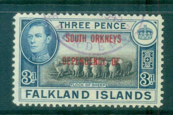 Falkland Is Deps 1944 South Orkneys Opts 3d FU lot77932