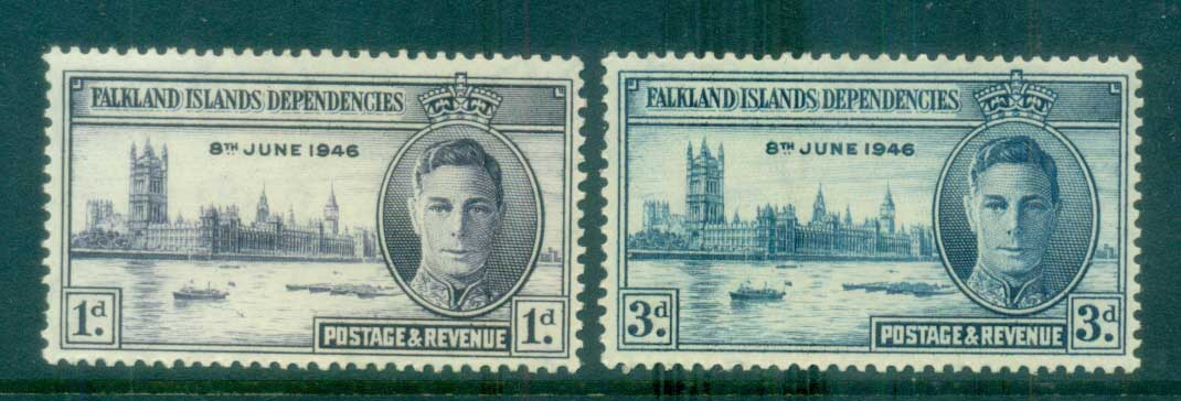 Falkland Is Deps 1946 Victory MLH lot77943